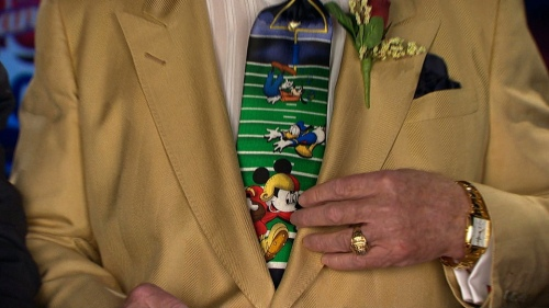 Closeup of Don Cherry's tie, Coach's Corner, 22 Nov 2008